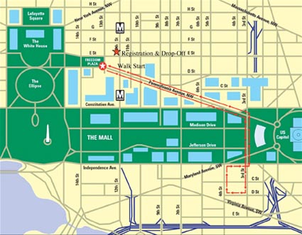 AIDS Walk Route Map