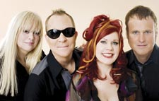 The B-52s: Wilson, Schneider, Pierson and Strickland