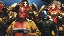 Perlman (front) in Hellboy II
