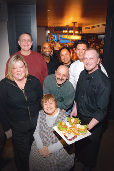 (Clockwise from center) Annie Kaylor, Leigh Hendricks, Paul Katinas, David Terry, Raul de Guzman, Adam Ocon, Bill Cooper and Mano
