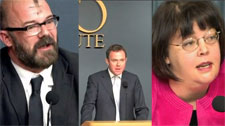 Cato Institute debate on gays and conservatism Photo by Aram Vartian