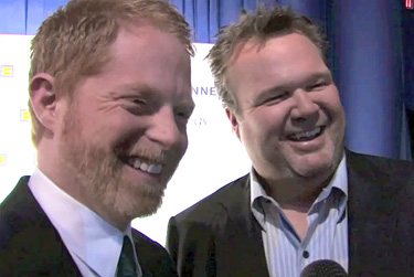 Jesse Tyler Ferguson and Eric Stonestreet from ''Modern Family'' at the 2010 HRC National Dinner Photo by Aram Vartian