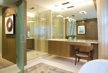 A bathroom remodeled by Studio Santalla