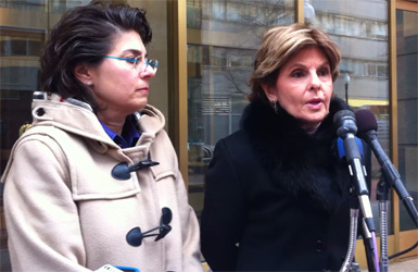 Rene Sandler and Gloria Allred Photo by Yusef Najafi