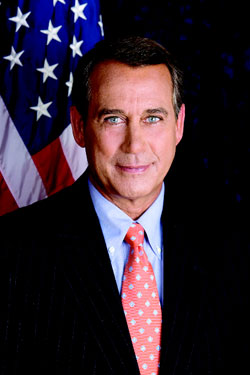 Ohio Republican John Boehner  Photo by ourtesy United States House of Representatives