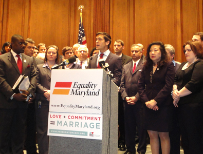 Sean Eldridge, political director for Freedom to Marry, speaks Photo by Yusef Najafi
