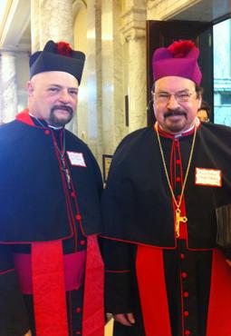 Rev. Joseph F. Steward (left) and Rev. William H. Christ Photo by Yusef Najafi