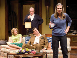 Howling Woolf: Morton and the cast of Virginia Woolf Photo by Michael Brosilow