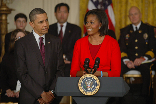 President Barack Obama and First Lady Michelle Obama speak at the White House conference on bullying Obamas WH Bullying Conference.jpg