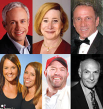 Glen Ackerman; Dana Beyer; Randy Griffin; Meghann Novinskie and Kim Rosenberg; Brent Minor; and Michael Kahn Photo by Photos courtesy CAGLCC and Metro Weekly