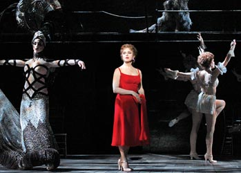 Bernadette Peters and ghosts in the Kennedy Center production of Follies Photo by Joan Marcus