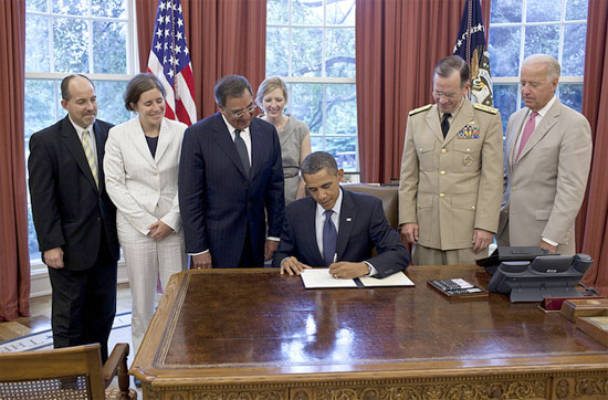 President Obama signs certification for DADT repeal Photo by Official White House Photo by Pete Souza