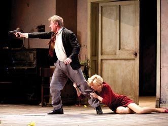 Richard Roxburgh as Vanya and Cate Blanchett as Yelena in Sydney Theatre Company's Uncle Vanya Photo by Lisa Tomasetti