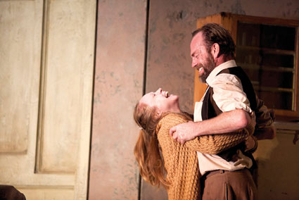 Hugo Weaving with Hayley McElhinney as Sonya in UncleVanya Photo by Lisa Tomasetti