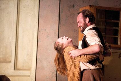Hugo Weaving with Hayley McElhinney as Sonya in UncleVanya Photo by Lisa Tomasetti