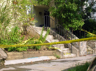 Columbia Heights crime scene Photo by John Riley