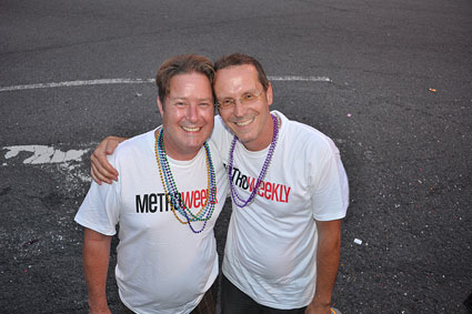 Gary Teter (l) with Dennis Havrilla at the 2010 Capital Pride Parade Photo by Ward Morrison