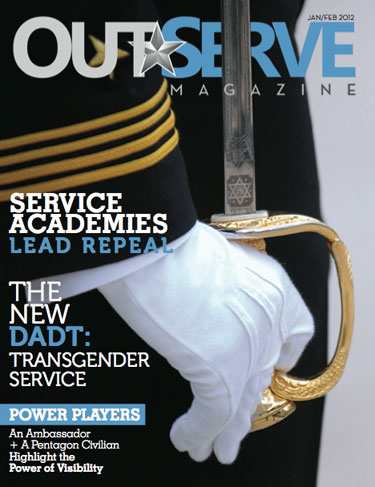 OutServe Magazine cover, Jan/Feb 2012