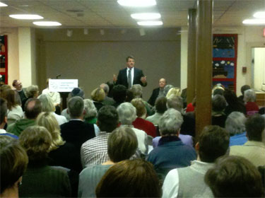 Doug Gansler speaks at a church meeting in Frederick, MD for marriage equality DougGanslerFrederick2.jpg