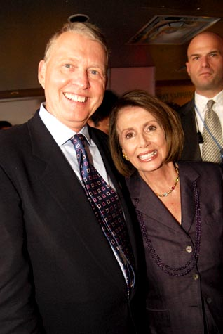 Aubrey Sarvis with Nancy Pelosi Photo by Ward Morrison