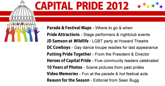 Capital Pride 2012 Menu Photo by