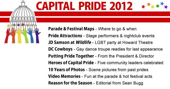 Capital Pride 2012 Menu Photo by