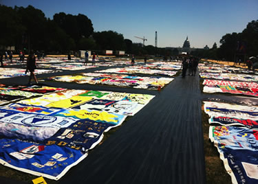 AIDS Quilt 25th Anniversary Photo by