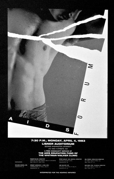 AIDS Forum poster from 1983 Photo by