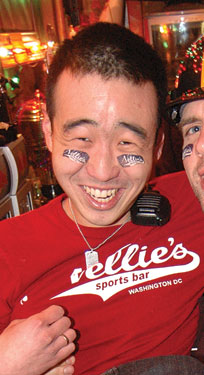 Chung at the 2011 Nellie's Superbowl Party Photo by Ward Morrison
