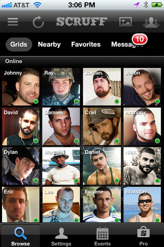 Scruff app screenshot from iTunes Photo by
