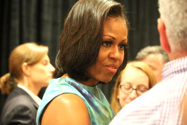 Michelle Obama at Sept. 5 LGBT luncheon Photo by David Lari/Qnotes