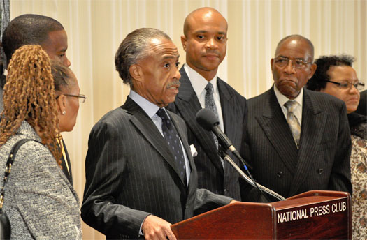 Rev. Al Sharpton speaks at the National Press Club as part of African American Pastors 4 MD Marriage Equality Photo by Todd Franson