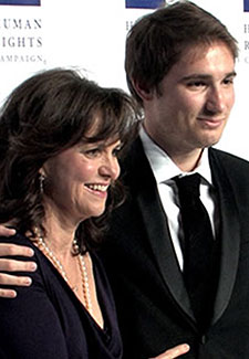 Sally Field and her son Sam Photo by Aram Vartian