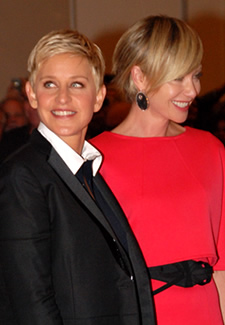 Ellen Degeneres and Portia de Rossi Photo by Aram Vartian
