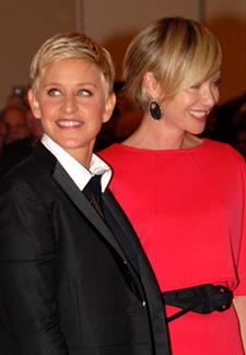 Ellen Degeneres and Portia de Rossi Photo by Aram Vartian