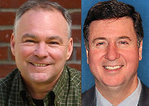 Tim Kaine and George Allen Photo by