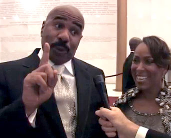 Steve and Marjorie Harvey Photo by Aram Vartian