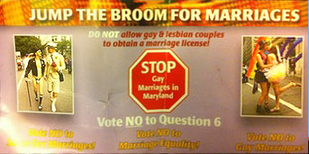 Another anti-gay Jump the Broom flier that features same-sex couples Photo by