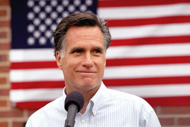 Gov. Mitt Romney Photo by John Moore