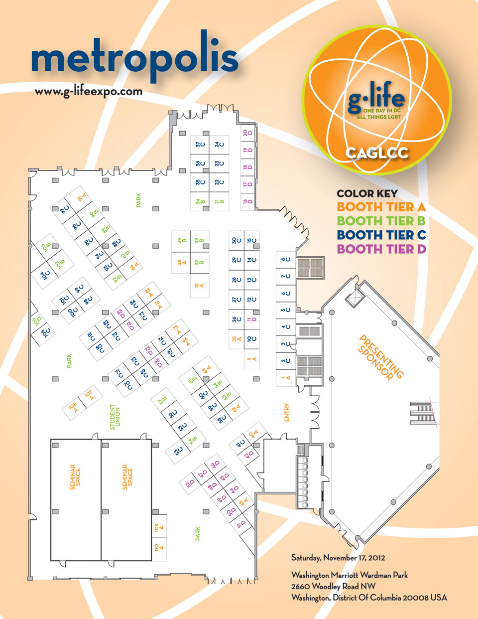 g.life Venue Map for 2012 Photo by