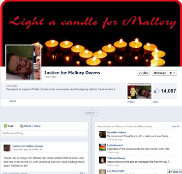 Mallory Owen Facebook page Mallory Owen Facebook page