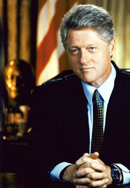 President William J. Clinton Photo by
