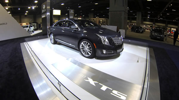 Cadillacs at the Washington Auto Show Photo by Aram Vartian