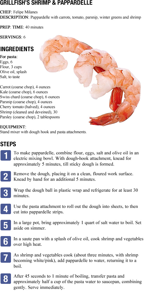 Shrimp and Parpadelle Recipe Shrimp and Parpadelle Recipe