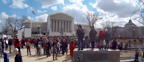 Supreme Court, during Tues., March 26 Proposition 8 marriage arguments Photo by Aram Vartian
