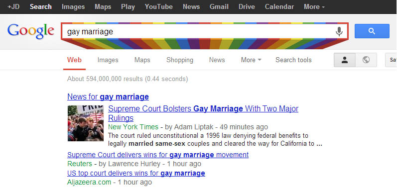 Google Gay Marriage rainbow Google Gay Marriage rainbow