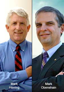 Mark Herring and Mark Obenshain Photo by