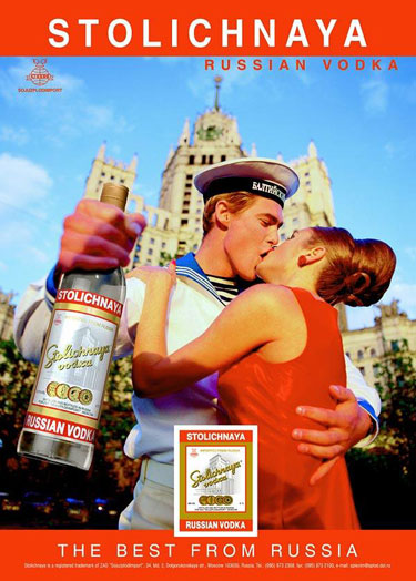 Stolichnaya ad Photo by