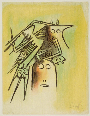 ''Untitled'' by Wilfredo Lam Photo by courtesy of the Art Museum of the Americas