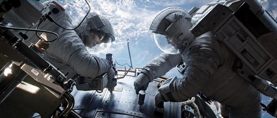 Gravity: Sandra Bullock and George Clooney